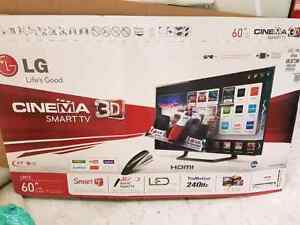 3 month old 60 in led 3d tv with bonus Android tv box