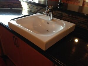 SINK AND FAUCET  -  HIGH END MODERN ABOVE COUNTER DESIGN