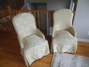 Formal Dining Chairs with Banquet Covers