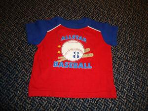 Boys Size 12-18 months Baseball Short Sleeve T-Shirt