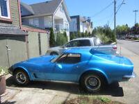 Last Year of the chrome bumper 1973 T-Top Corvette