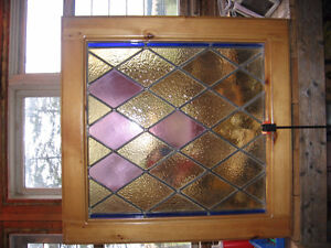 2 Antique Old Stained Glass Windows. Kitchener / Waterloo Kitchener Area image 2