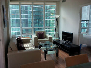 May: Downtown Furnished 3 Bed 2 Bath Suite @ 12 Yonge Street