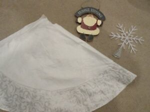Christmas Tree skirt, Santa sign and snowflake tree topper