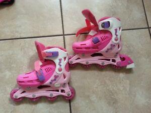 Girls Adjustable Roller Blades Size 12-2