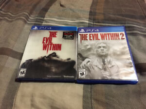 Jeux Ps4 The Evil Within 1-2
