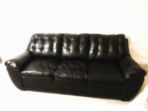Pair Of Premium Modern Leather Couches