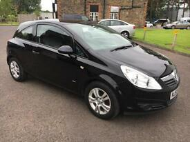 5909 Vauxhall Corsa 1.2i 16v Active Black 3 Door 56429mls