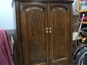 BEAUTIFUL ~CLOTHING ARMOIRE ~ FROM COULTERS ~DARK WALNUT FINISH Windsor Region Ontario image 2