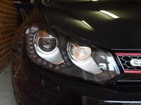 VW GOLF 6 HID HEADLIGHTS, CHROME WITH LEDS
