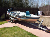 CWD 14 Misty River Boat with 15 HP Merc