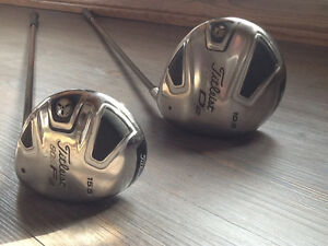 Titleist driver, 3 wood,   56*and60* wedges