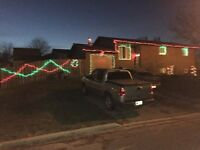 Get your Christmas lights hung without getting cold