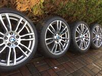 "Genuine BMW 3 4 Series 19"" 403 M Sport Alloy Wheels & Tyres F30 F31 F32 F33 F34 F36 E90 E92 Z4"
