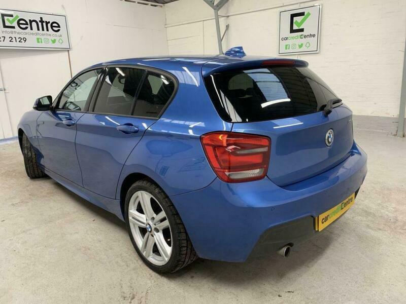 *buy now from £45 per week* BLUE BMW 1 SERIES 2.0 118D M SPORT 5D 141 BHP DIESEL