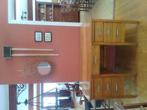Bureau bois solide vintage
