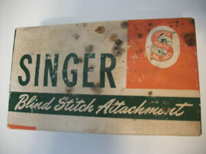 SINGER BLIND STITCH ATTACHMENT AND MANUAL  #160616