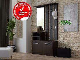 Hallway Set Shoe Cabinet Mirror Hangers Colours Available! Unbeatable Price!!!