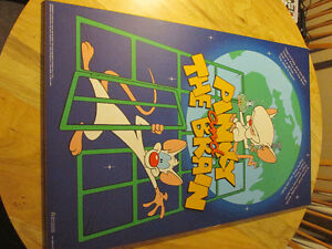 PINKY AND THE BRAIN Animaniacs Mounted Poster 1995 Vintage Toy