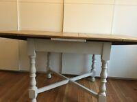 Vintage solid oak dining table