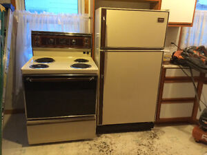 Matching refrigerator and stove