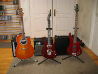 Three Guitars and Three Amps for Sale - All New or Like New