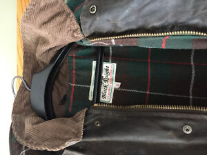 Long waxed oil riding coat and hat