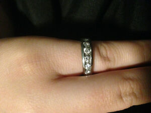 14k White Gold Anniversary Band with 1ct of Diamonds