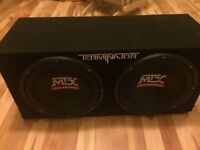 MTX audio subs and amp