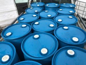 Smaller 25 gallon blue barrels. ( Must buy at least 3 barrels )