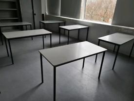 White desks 120 x 60 cm (20 available