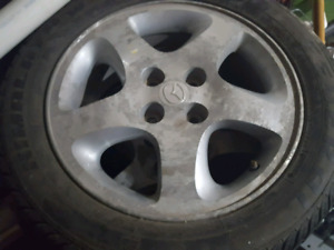 195 55 15 winter tires on 4x100 alloy rims