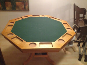 Table de poker et bumper pool