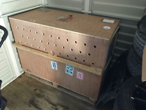 Large Reinforced Dog Transport Crate (Air Approved)
