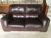FREE - Two Brown Leather Settees GONE