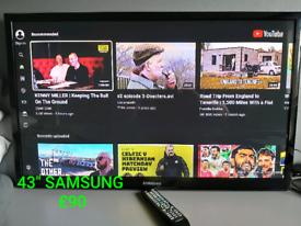 "SAMSUNG 43"" Plasma TV (with remote)"