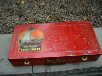 "LITTLE RED-""BIG BOY"" METAL TOOL CHEST"
