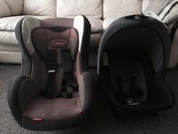 Double car seat and a pram seat