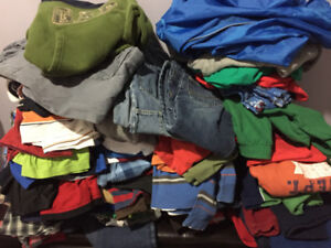 clothes for boy from 4 yo to 10 yo good condition $75 for 130 pc
