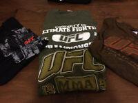 Lots of MMA and UFC T-shirts (size XL)