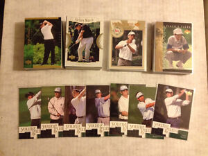 2001 Upper Deck Golf cards + Tiger Woods Tale Cards