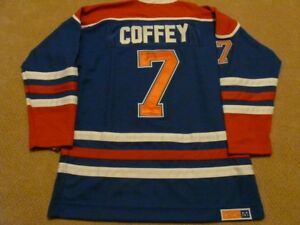 255988e07 Paul Coffey Edmonton Oilers signed jersey