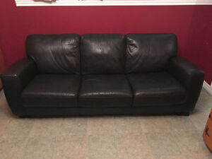 High quality leather couch