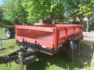 Trailer 2 essieux tandem 5x10 avec freins électriques