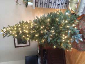 7 foot quick set up -pre lite up- Christmas  tree. $50
