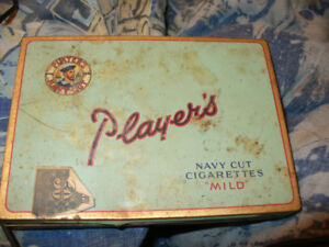 """PLAYER'S NAVY CUT CIGARETTES """"MILD"""" TIN CASE BY IMPERIAL TOBACCO"""