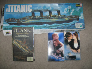 Revell Titanic Model + Titanic Map + Titanic 2 vhs movie-$5 lot