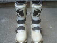 Kids motocross gear and boots