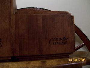 Vintage Canister Set 4 Pce - Wood - Cannister Set Kawartha Lakes Peterborough Area image 3