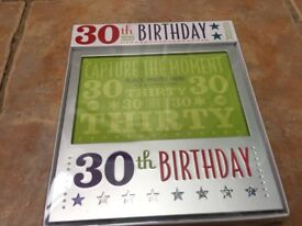 30th Birthday Frames - New